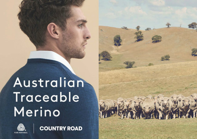 Australian fashion brand Country Road sees a strong focus on the traceability of Australian wool